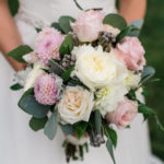 Beautiful White and Pink Wedding Bouquet for Wentworth by the Sea Wedding