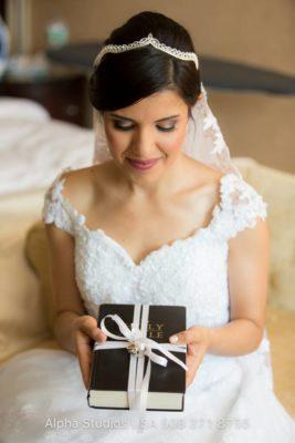 Glam wedding makeup