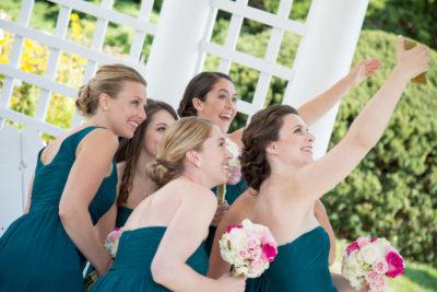bridal party selfie