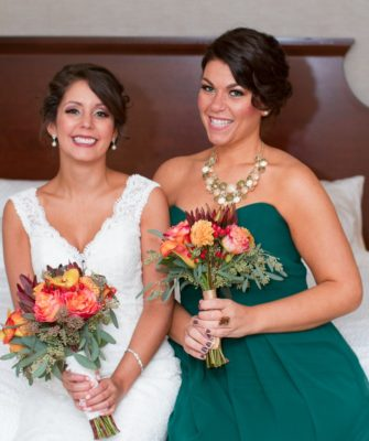 glam bridesmaid