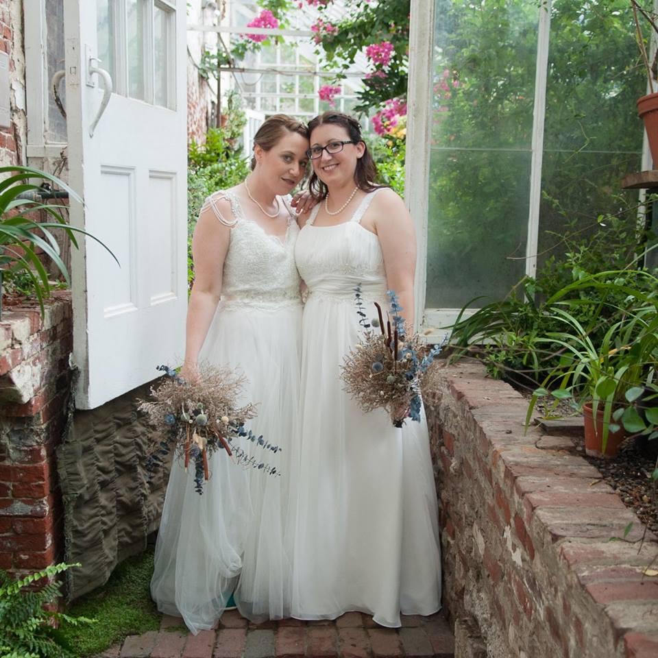 same-sex wedding makeup