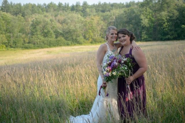 Natural bridesmaid