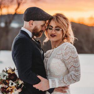 brides in glasses